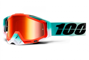 masque 100 racecraft cubica orange turquoise ecran iridium rouge