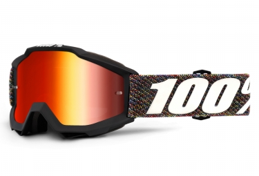 100% Accuri Krick Goggle Black Frame Red Iridium Lens