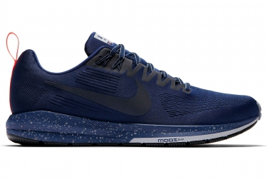 nike air zoom structure 21 shield bleu homme 45 1 2