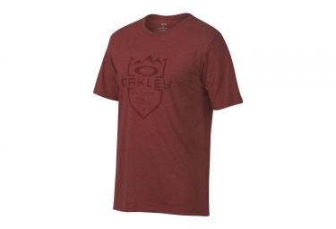 T shirt oakley 50 slopes rouge l