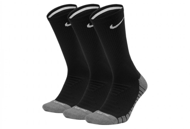 Paires de Chaussettes Nike Dry Cushion Crew (3 paires) Noir