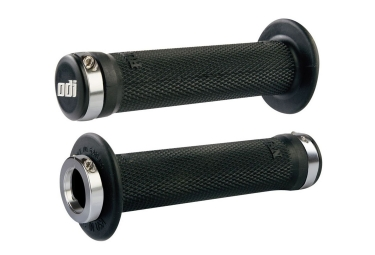 Poignees odi ruffian bmx lock on 143mm noir argent