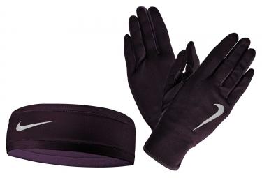 Pack Gants et Bonnet Femme Nike Quilted Violet