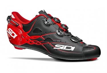 chaussures route sidi shot 2018 noir rouge 44