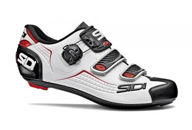 paire de chaussures route sidi 2018 alba blanc noir rouge 42