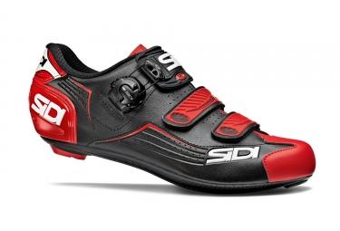 paire de chaussures route sidi 2018 alba noir rouge 42