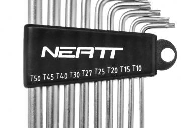 Jeu de 9 Clés Torx Neatt T10 T15 T20 T25 T27 T30 T40 T45 T50
