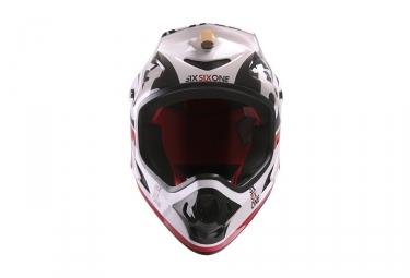 Casque Integral 661 COMP Noir Blanc Rouge