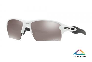 lunettes oakley flak 2 0 xl blanc prizm black polarized ref oo9188 8159