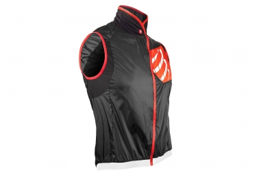 veste coupe vent compressport cycling hurricane noir red xl