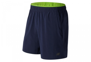 short 2 en 1 new balance performance bleu jaune m