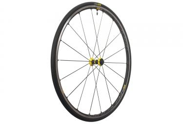 mavic 2018 roue avant ksyrium elite ust jaune patins 9 x100 mm