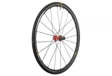 mavic 2018 roue arriere ksyrium elite ust m 25 rouge shimano sram patins 9 x 130 mm