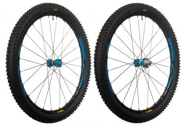 paire de roues vtt mavic xa elite 27 5 bleu boost 15x110mm 12x148mm sram xd quest pr