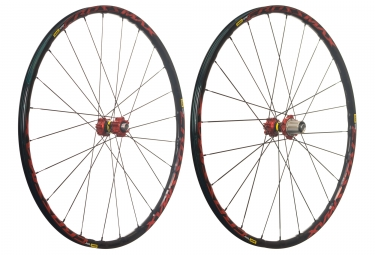 mavic 2018 paire de roues crossmax elite 29 rouge shimano sram 6 trous 15 x 100 12 x