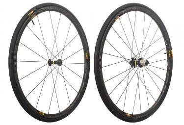 paire de roues mavic 2018 ksyrium pro carbon sl a pneus yksion pro 25mm shimano sram patins 9 x 100 9 x 130 mm