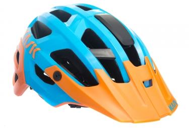 Kask Rex Mtb Helmet Blue Orange M  52 58 Cm