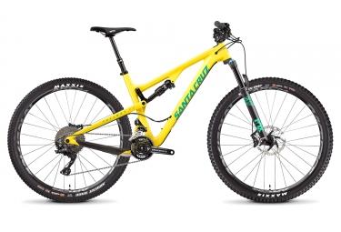 velo semi rigide santa cruz tallboy 3 c carbon 29 27 5 shimano xt 2x11 vitesses jaune 2017 l 176 186 cm