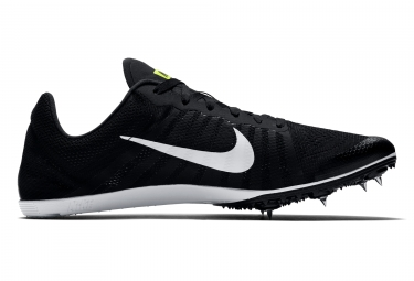 chaussures a pointes nike zoom d noir blanc 44