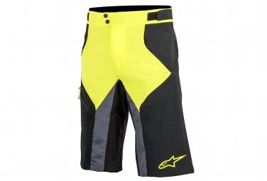 short alpinestars outrider noir jaune fluo 34