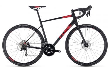 Velo de route cube attain sl disc shimano 105 11v 2018 noir rouge 53 cm 165 175 cm