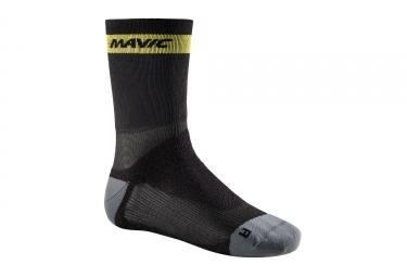 paire de chaussettes mavic ksyrium pro thermo noir gris 39 42