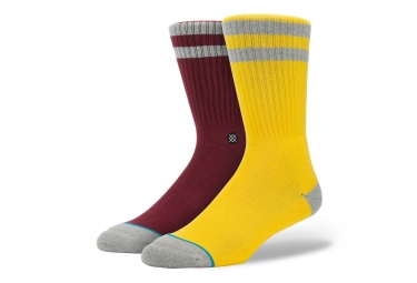 Chaussettes stance cosby jaune rouge 43 46