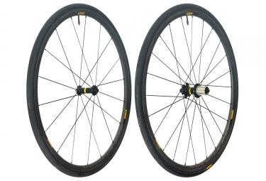 mavic 2018 paire de roues ksyrium pro carbon sl t m 25 shimano sram patins 9 x 100 9 x 130 mm