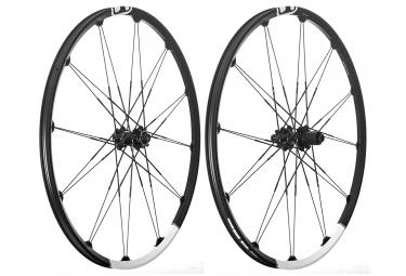 Paire de roues crankbrothers 2018 cobalt 3 29 15x100mm 12x142mm noir blanc