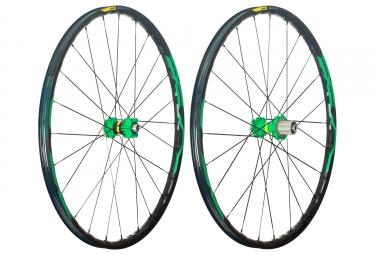 mavic 2018 paire de roues xa elite 27 5 vert shimano sram 6 trous boost 15 x 110 12 x 148 mm