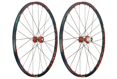mavic 2018 paire de roues crossmax elite 27 5 rouge xd 6 trous 15 x 100 12 x 142 mm