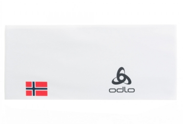 Odlo Competition Fan Norwegian Flag Headband White