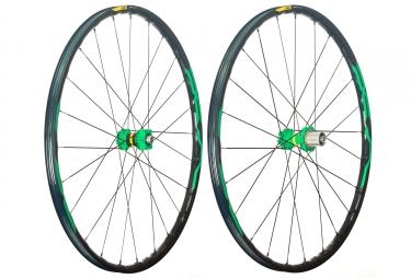 mavic 2018 paire de roues xa elite 29 vert shimano sram 6 trous boost 15 x 110 12 x 148 mm