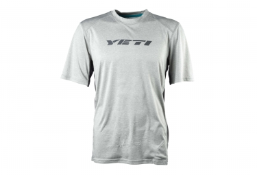 maillot manches courtes yeti tolland gris m