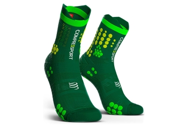 Calcetines Compressport Pro Racing V3.0 Trail - Vert