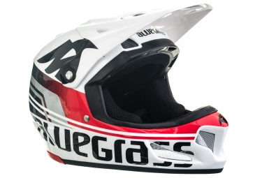 casque integral bluegrass brave blanc rouge xl 60 62 cm