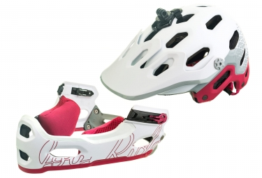 Casco Bell Super 3R MIPS para mujer White Cherry