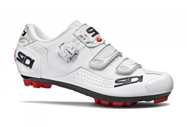 paire de chaussures vtt sidi 2018 trace blanc 42