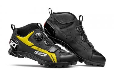 paire de chaussure vtt sidi defender noir jaune 42