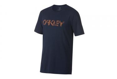 t shirt oakley camo mark ii bleu orange s