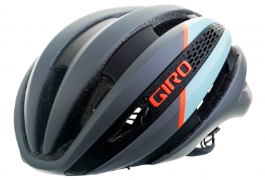 casque giro synthe gris mat bleu orange s 51 55 cm