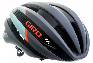 Casque GIRO Synthe Gris Mat Bleu Orange