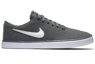 Zapatillas Nike SB Check Solarsoft Gris Blanco