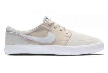 Nike SB Solarsoft Portmore II Shoes Beige Blanco