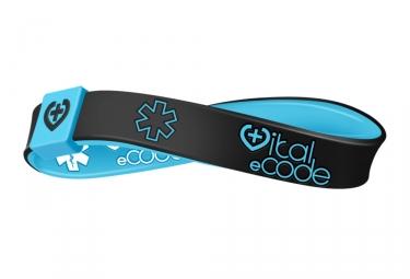 Bracelet d´identification Vital eCode Vital Sport Noir Bleu