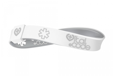 Bracelet d'identification Vital eCode Vital Sport Gris Blanc