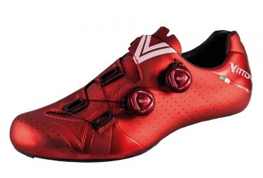 Paire de chaussure route vittoria velar rouge 46