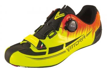 paire de chaussures route vittoria fusion pro jaune noir rouge 43