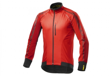 Veste coupe vent mavic cosmic elite thermo rouge noir 2017 m