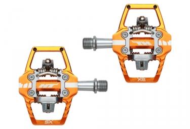 Paire de Pédales Automatiques HT T1 SX Orange